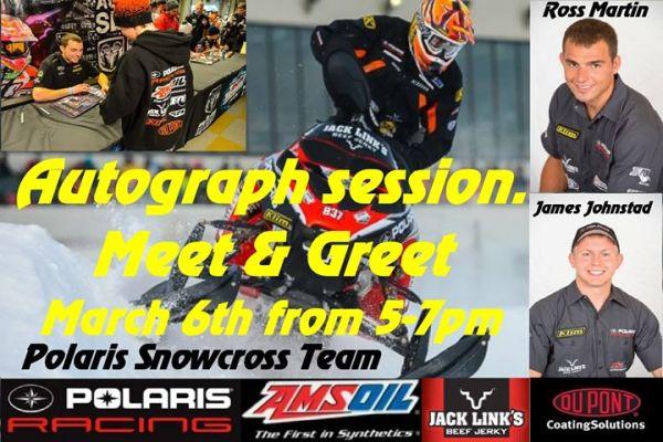Wheels hosting Polaris SnoCross team members