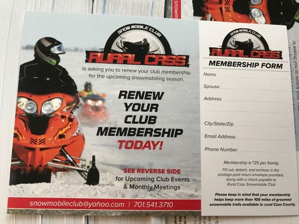 club renewal mailer